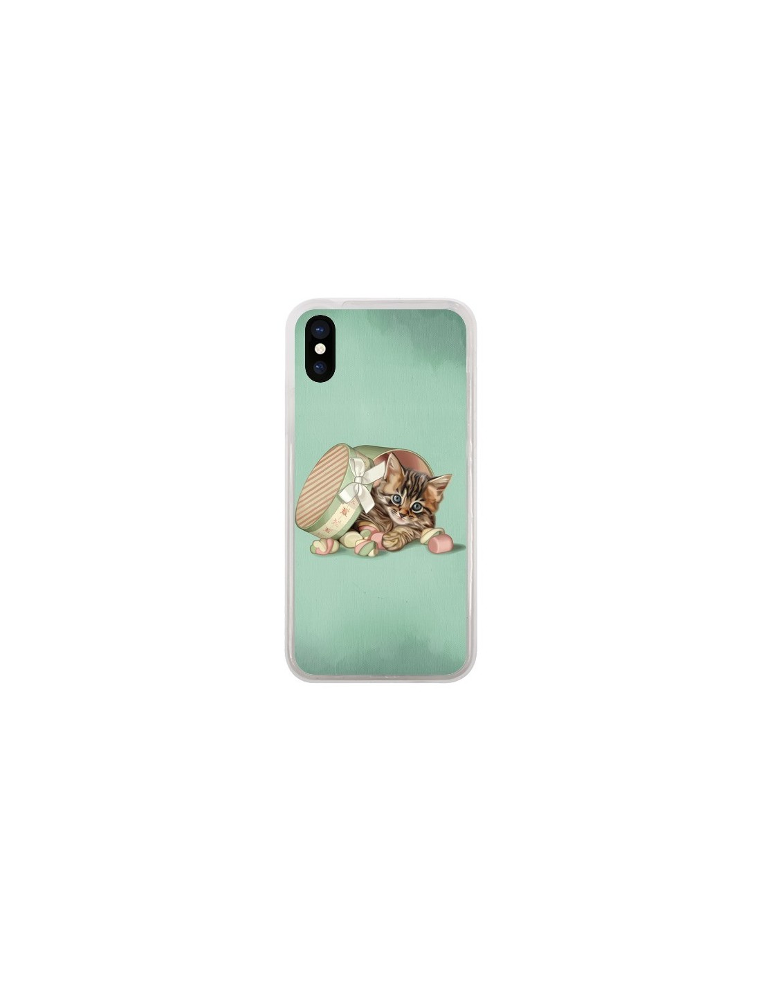 coque iphone x chaton