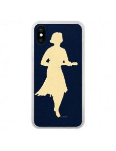Coque Marilyn Ukulele Vintage pour iPhone X et XS - Magdalla Del Fresto