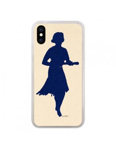 Coque iPhone X et XS Marilyn Ukulele Bleu Marine - Magdalla Del Fresto