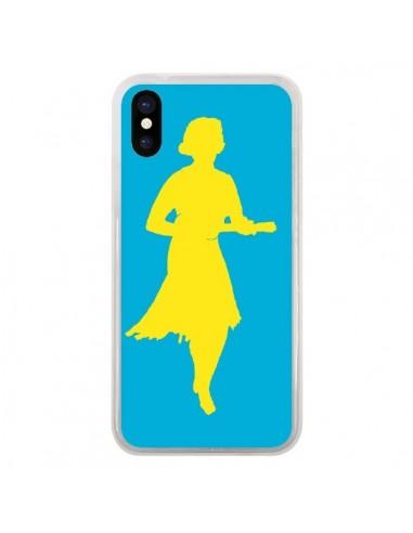 Coque iPhone X et XS Marilyn Ukulele Jaune - Magdalla Del Fresto