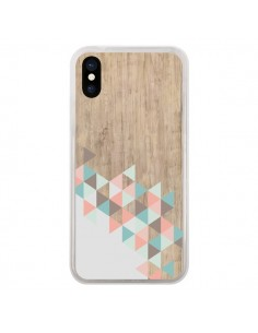 Coque iPhone X et XS Wood Bois Azteque Triangles Archiwoo - Pura Vida