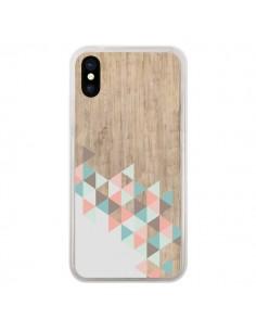 Coque Wood Bois Azteque Triangles Archiwoo pour iPhone X et XS - Pura Vida