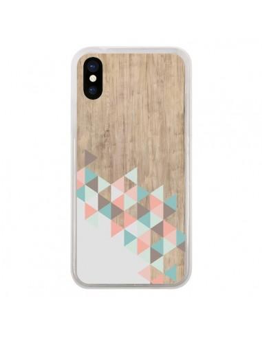 coque iphone x et xs wood bois azteque triangles archiwoo pura vida