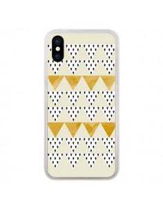 Coque iPhone X et XS Triangles Or Garland Gold - Pura Vida