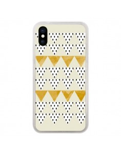 Coque Triangles Or Garland Gold pour iPhone X - Pura Vida