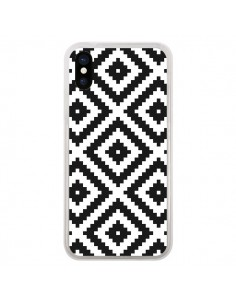 Coque Diamond Chevron Black and White pour iPhone X - Pura Vida