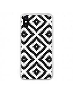 Coque iPhone X et XS Diamond Chevron Black and White - Pura Vida