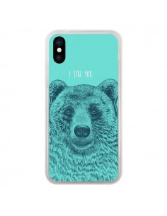 Coque Bear Ours I like You pour iPhone X - Rachel Caldwell