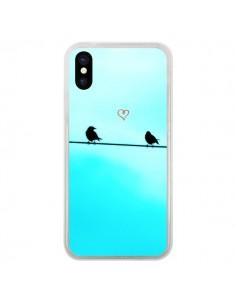 Coque Oiseaux Birds Amour Love pour iPhone X - R Delean