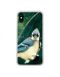 Coque I'd be a bird Oiseau pour iPhone X - R Delean