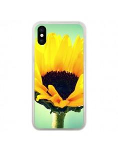 Coque Tournesol Zoom Fleur pour iPhone X - R Delean