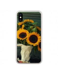 Coque Tournesol Bouquet Fleur pour iPhone X - R Delean