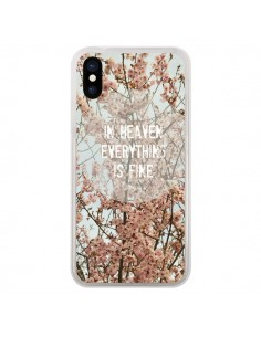 Coque In heaven everything is fine paradis fleur pour iPhone X - R Delean