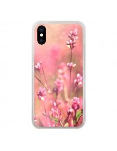 Coque Fleurs Bourgeons Roses pour iPhone X - R Delean
