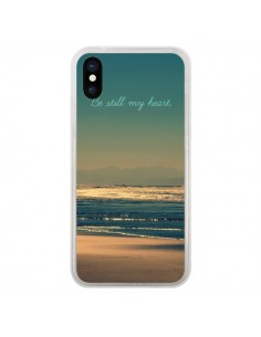 Coque Be still my heart Mer Sable Beach Ocean pour iPhone X - R Delean