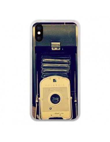 coque appareil photo vintage polaroid boite pour iphone x r delean. Black Bedroom Furniture Sets. Home Design Ideas