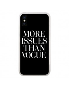 Coque More Issues Than Vogue pour iPhone X et XS - Rex Lambo