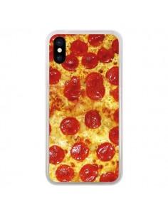 Coque iPhone X et XS Pizza Pepperoni - Rex Lambo