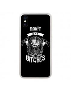 Coque Don't eat my brain Bitches Cerveau Noir pour iPhone X et XS - Senor Octopus