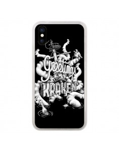 Coque Greetings from the kraken Tentacules Poulpe pour iPhone X et XS - Senor Octopus