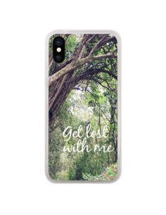 Coque Get lost with him Paysage Foret Palmiers pour iPhone X - Tara Yarte