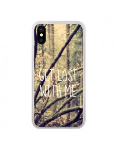 Coque Get lost with me foret pour iPhone X - Tara Yarte
