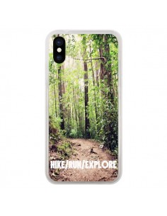 Coque Hike Run Explore Paysage Foret pour iPhone X - Tara Yarte