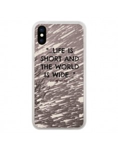 Coque Life is short Foret pour iPhone X - Tara Yarte