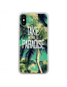 Coque Take me back to paradise USA Palmiers Palmtree pour iPhone X - Tara Yarte