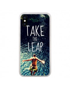 Coque Take the leap Saut pour iPhone X - Tara Yarte