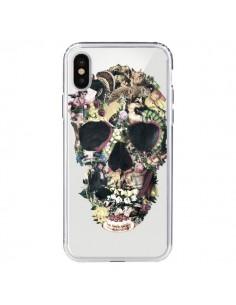 Coque Skull Vintage Tête de Mort Transparente pour iPhone X - Ali Gulec