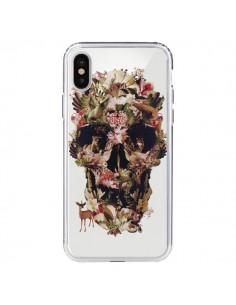 Coque iPhone X et XS Jungle Skull Tête de Mort Transparente - Ali Gulec