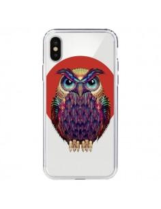 Coque iPhone X et XS Chouette Hibou Owl Transparente - Ali Gulec