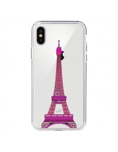Coque Tour Eiffel Rose Paris Transparente pour iPhone X - Asano Yamazaki