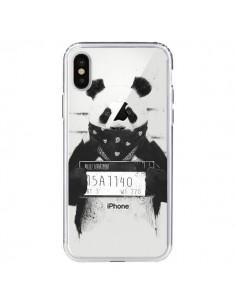 Coque iPhone X et XS Bad Panda Transparente - Balazs Solti