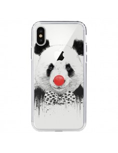 Coque Clown Panda Transparente pour iPhone X - Balazs Solti