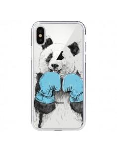 Coque iPhone X et XS Winner Panda Gagnant Transparente - Balazs Solti