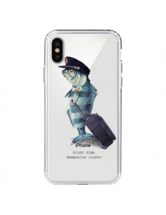 Coque Pilot Fish Poisson Pilote Transparente pour iPhone X - Eric Fan