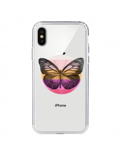 Coque Papillon Butterfly Transparente pour iPhone X - Eric Fan