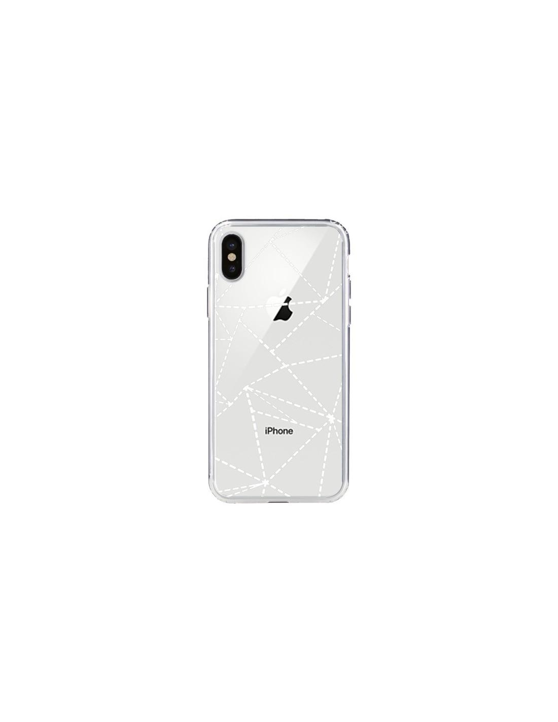 Coque IPhone X Et XS Lignes Points Abstract Blanc