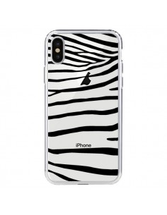 Coque Zebre Zebra Noir Transparente pour iPhone X - Project M