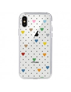 Coque Point Coeur Coloré Pin Point Heart Transparente pour iPhone X - Project M