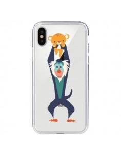 Coque Futur Roi Lion King Rafiki Transparente pour iPhone X et XS - Jay Fleck