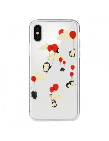 Coque Pingouin Ciel Ballons Transparente pour iPhone X - Jay Fleck