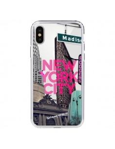 Coque New Yorck City NYC Transparente pour iPhone X - Javier Martinez
