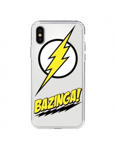 Coque Bazinga Sheldon The Big Bang Thoery Transparente pour iPhone X - Jonathan Perez