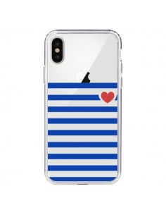 Coque Mariniere Coeur Love Transparente pour iPhone X - Jonathan Perez