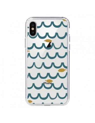 Coque Poisson Fish Water Transparente pour iPhone X et XS - Dricia Do