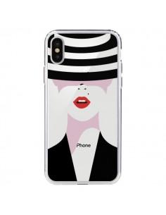 Coque Femme Chapeau Hat Lady Transparente pour iPhone X - Dricia Do