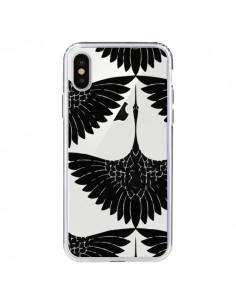 Coque Paon Faisan Transparente pour iPhone X - Dricia Do